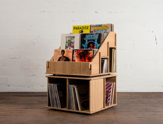 7. Hi-Phile retro record cabinet