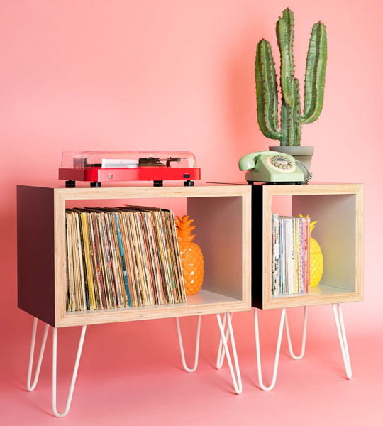 18. Bespoke vinyl storage units by Hello Retro