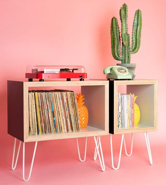 18. Bespoke vinyl storage units by Hello Retro