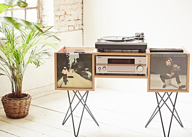 8. Le Connaisseur retro vinyl storage unit by Kopo