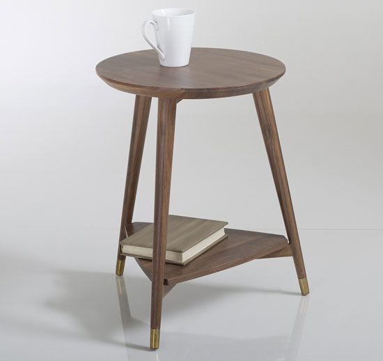 Watford Vintage Walnut Side Table at La Redoute