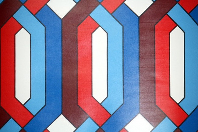 10. Original 1970s geometric wallpaper at Retro Wallpaper