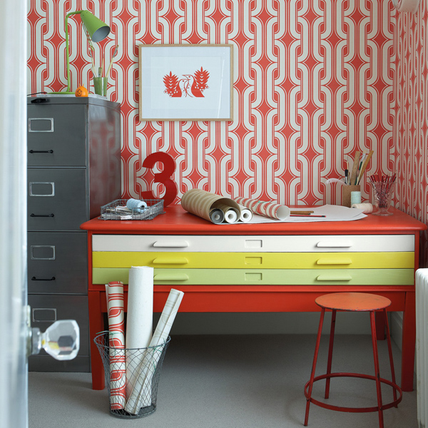 2. 1970s Lavaliers wallpaper by Little Green Paint Co.