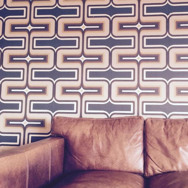 6. Geometric wallpaper by Sharon Jane