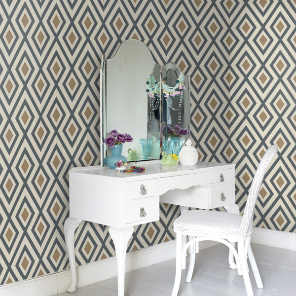 9. La Fiorentina in the David Hicks by Ashley Hicks wallpaper collection