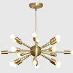 Retro brass sputnik light at Inscapes Design