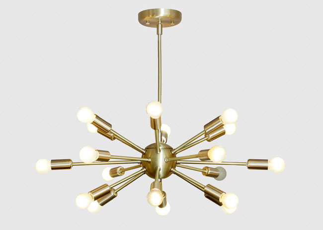 Retro brass sputnik light at inscapes design