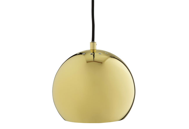 1960s Frandsen Ball ceiling light in brass