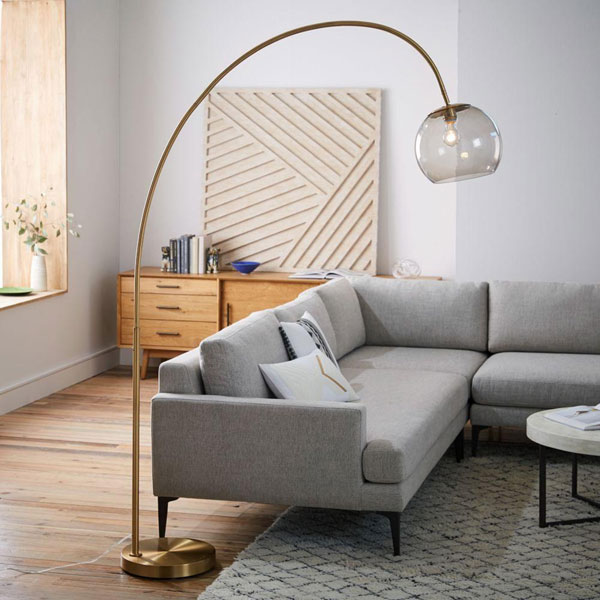 Brass Overarching Floor Lamp at West Elm