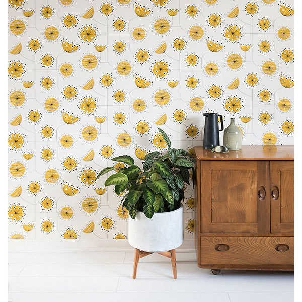 Midcentury Dandelion Mobile wallpaper range by MissPrint