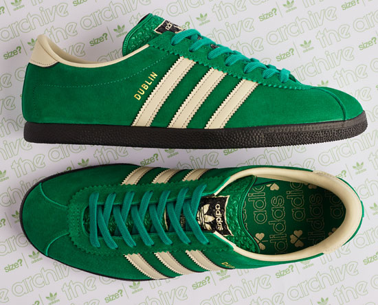Adidas Dublin trainers back with a St Patrick's Day finish