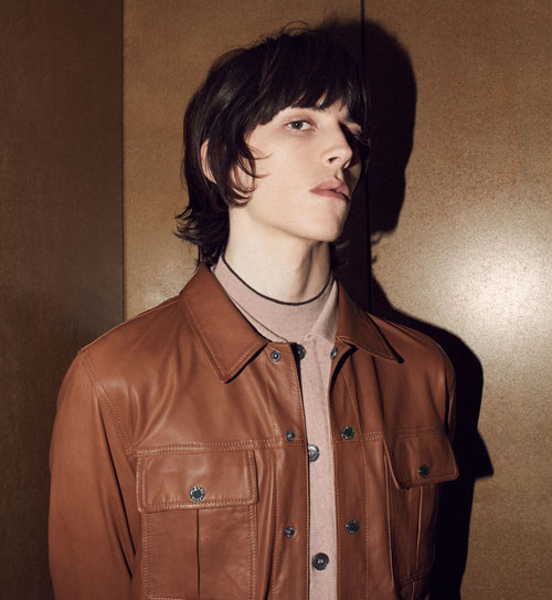 1960s-inspired button-up leather jacket by Pretty Green