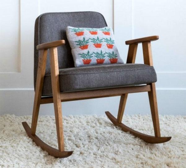 1960s Josef Chierowski-designed 366 rocking chair