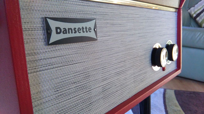 Refurbished 1960s Dansette Senator record player on eBay