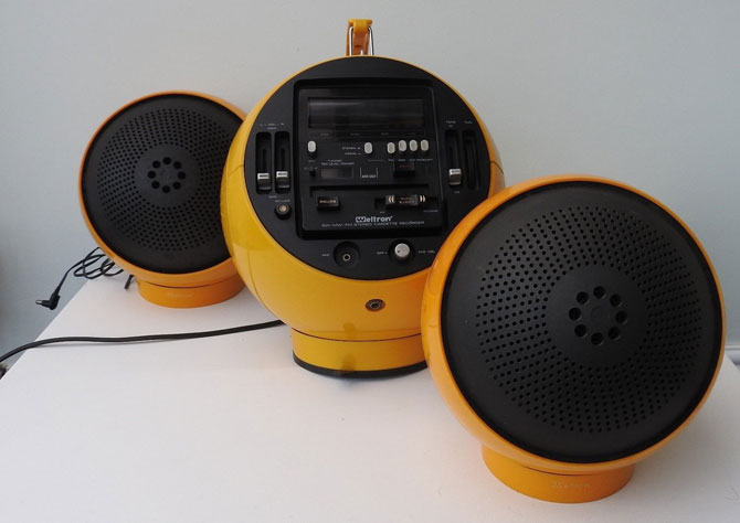1970s Weltron space age audio system and speakers on eBay