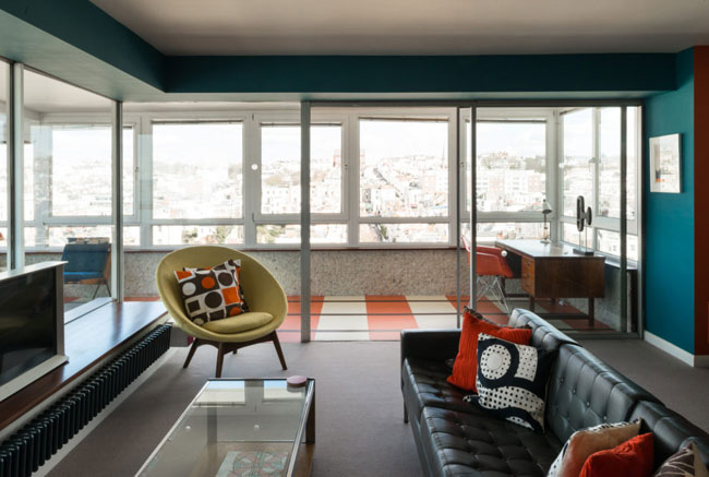 1960s living: Apartment in the Richard Seifert-designed Bedford Towers in Brighton, East Sussex