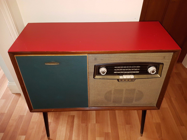 1960s Bush Radiogram on Dansette legs on eBay