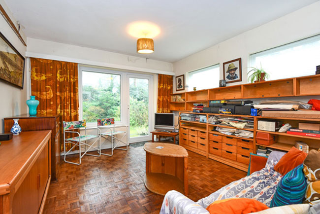 Retro house: 1960s time capsule for sale on the Edgcumbe Park estate in Crowthorne, Berkshire