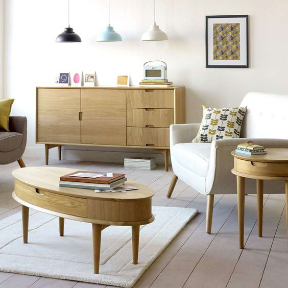 Retro Skandi living room range at Dunelm