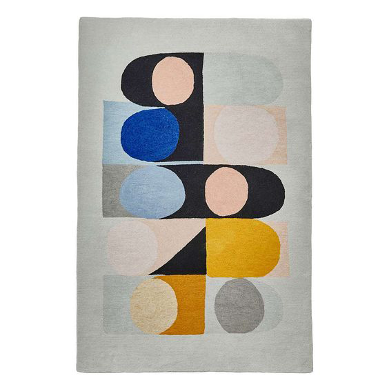 Modern Rugs Dunelm: Inaluxe Retro Abstract Rugs At Dunelm