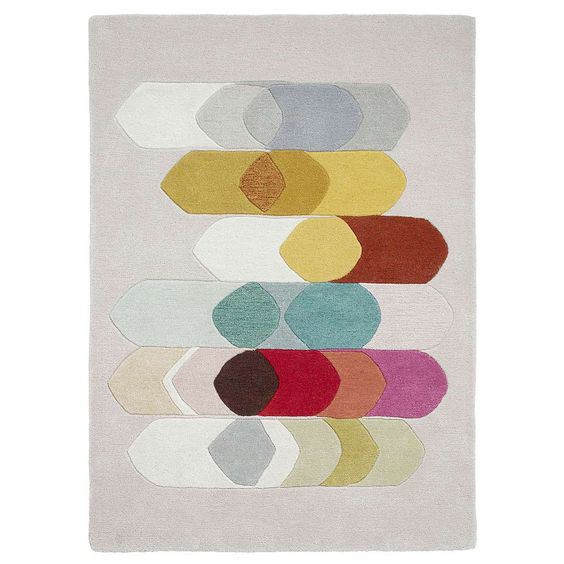 Inaluxe retro abstract rugs at Dunelm