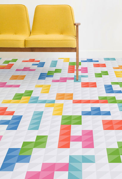 House of fun: Retro games flooring by Atrafloor