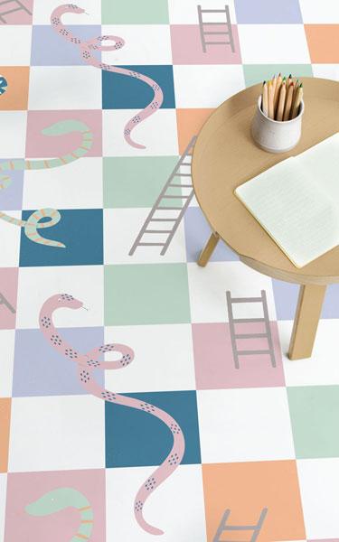 House of fun: Retro games flooring by Atrafloor