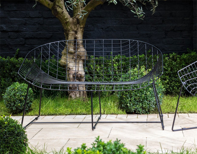 Leopold midcentury-style garden seating at Habitat