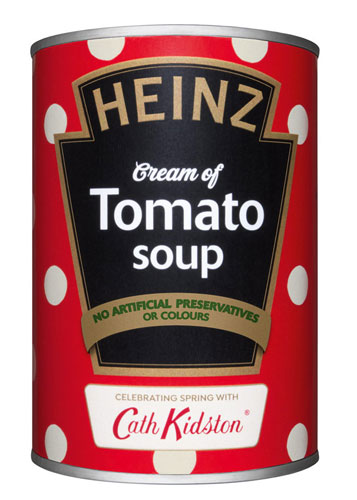Heinz x Cath Kidston limited edition soup cans