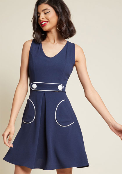 Smak Parlour retro A-line dress at Modcloth