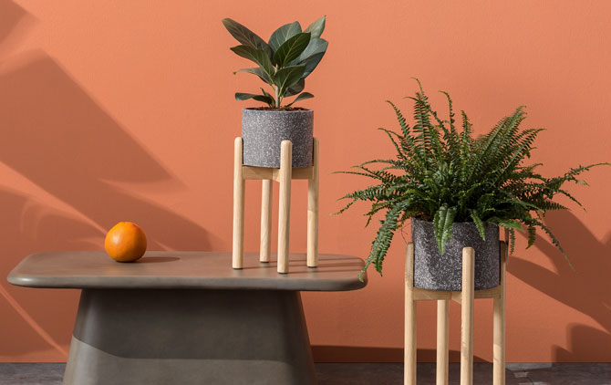 Hakuun retro planters at Made