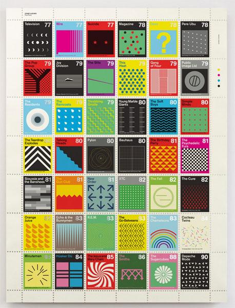 Post-punk stamp album print by Dorothy