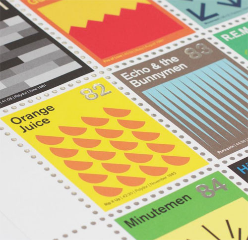 Post-punk stamp album print by Dorothy