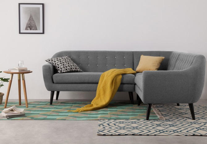 Mad Men style: Ritchie corner sofa at Made
