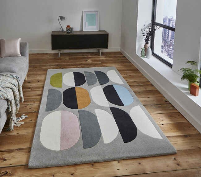 Inaluxe Retro Abstract Rugs