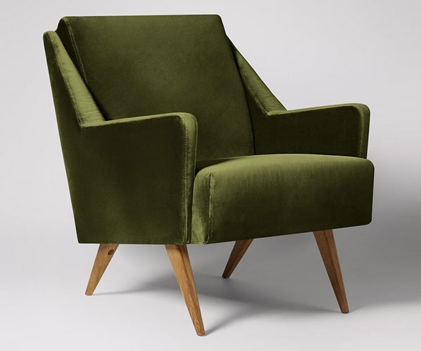 Midcentury-style Rune armchairs at Swoon Editions