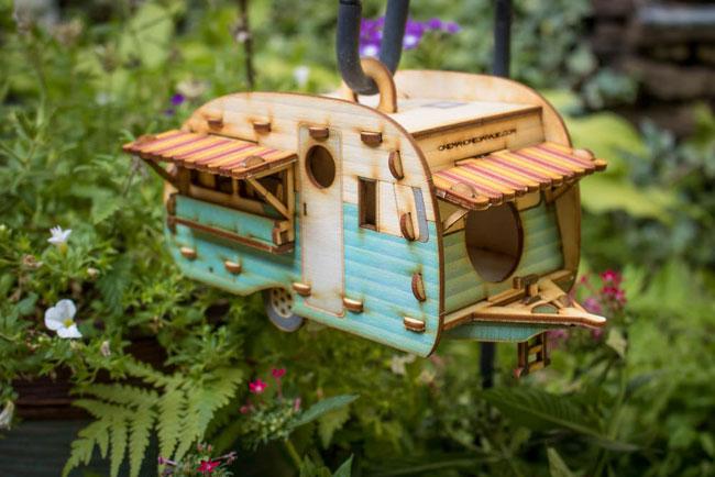 Vintage caravan birdhouses by One Man One Garage