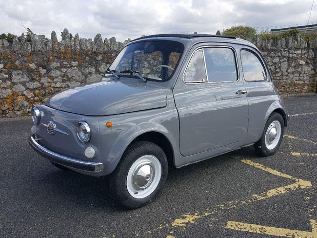 Fully restored 1969 Fiat 500 car on eBay