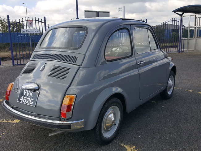 Fully restored 1969 Fiat 500 car on eBay