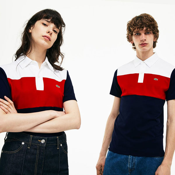 Limited edition 1970s Lacoste interlock polo shirt