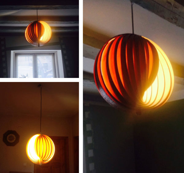 Retro Verner Panton-inspired light fitting by Ili Max