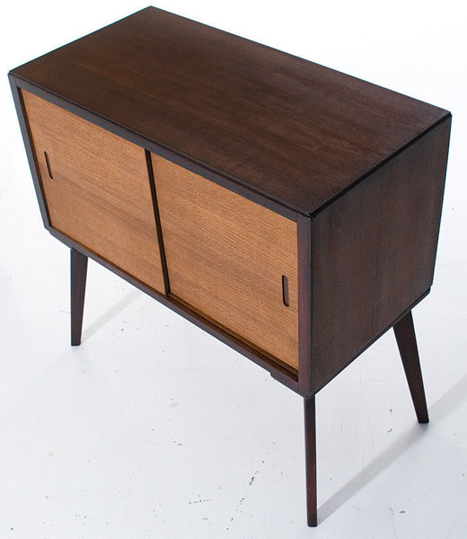 Avalon 1950s record storage cabinet on eBay