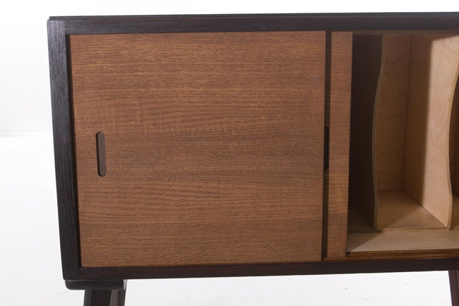 Avalon 1950s record storage cabinet on eBay