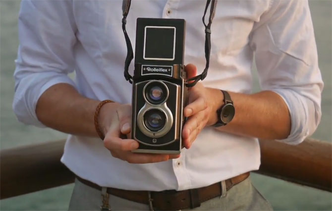 Classic Rolleiflex twin-lens reflex returns as an instant camera