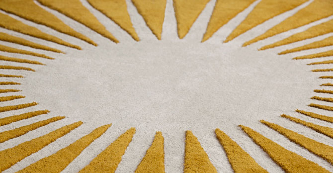 Retro Vaserely rug by Niki Jones for Made