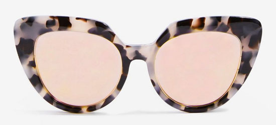 Handmade retro kitten frame sunglasses at Topshop