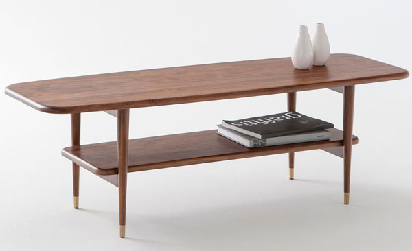 Watford solid walnut table at La Redoute