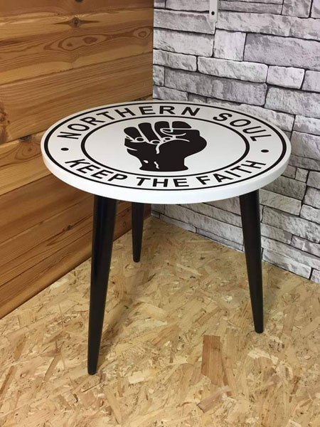 Northern Soul coffee table by The Groove Station