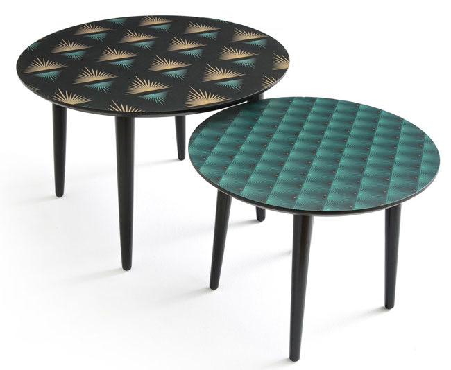 Ronda patterned coffee tables at La Redoute