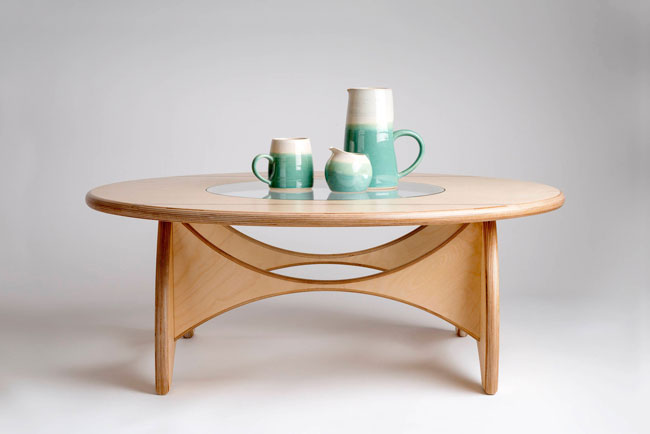 Handmade round coffee table by Midray